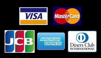 VISA / Master Card / JCB / AMERICAN EXPRESS / Diners Club